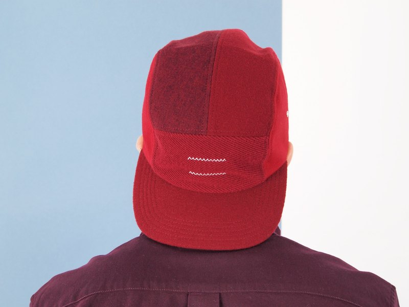 Limited Five Patch Cap : S/S 2016 Red Edition : Uniquely crafted by Madmatter