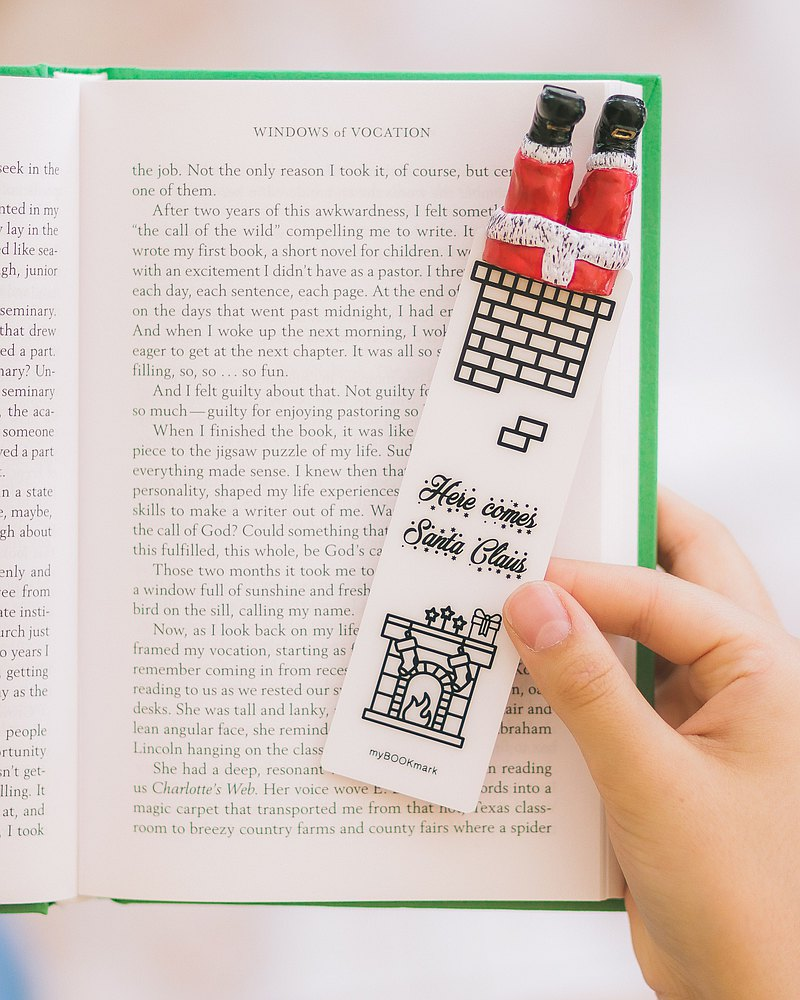 Santa bookmark from authentic MYBOOKMARK