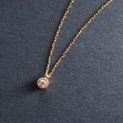 K18PG × Diamond 0.03ct -Necklace- ◆ Verseau