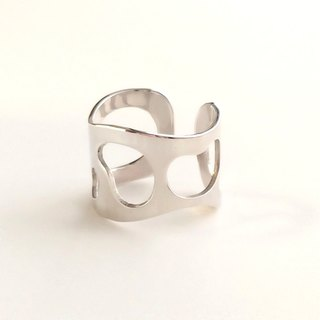 [Order production] ring / 950 silver puddle design <unisex> ※ 7-20 No.