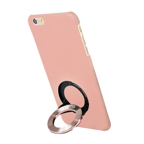 [Rolling-Ave.] iPhone 6 plus / 6s plus 手机保护壳iCircle粉色玫瑰金环 - Pink with rose gold ring