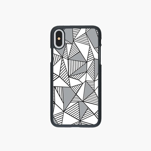Phone Case - 手机壳 - Abstraction Lines With Grey Blocks