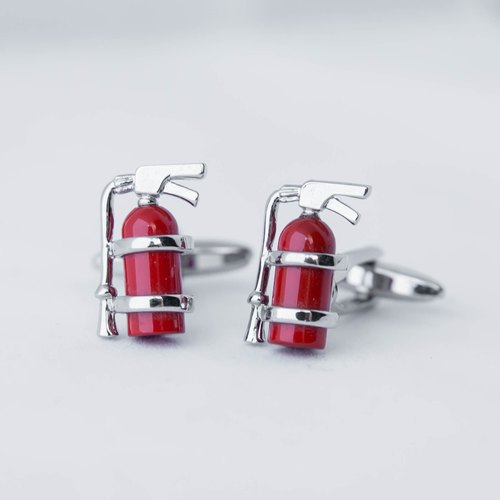 灭火器袖扣 - 红色 FIRE EXTINGUISHER CUFFLINK
