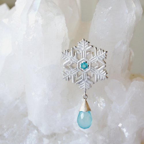 ❄ winter limited ❄ snow crystal earrings (SBC)