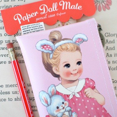 韩国【Afrocat】paper doll mate pencil case3〈Julie〉手帐 笔袋 铅笔盒 收纳