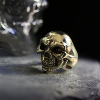 Fierce Human Skull Ring by Defy - Original Handmade Jewelry - Cool Statement Accessories