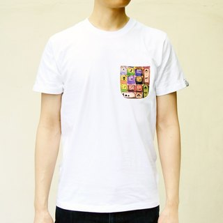 【BestFriend】Keyboard Pocket T-shirt  / 印花口袋短T
