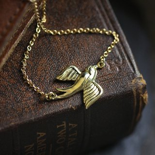 Swallow Small Size Charm Necklace by Defy / Original Design Jewelry / Pendant