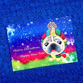 Merry Christmas & Happy New Year 巴哥明信片-03