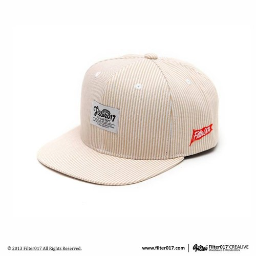 Filter017 Stripe Denim Snapback Cap 条纹单宁后扣式棒球帽
