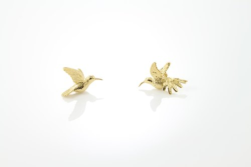 Humming Bird Earring - gold