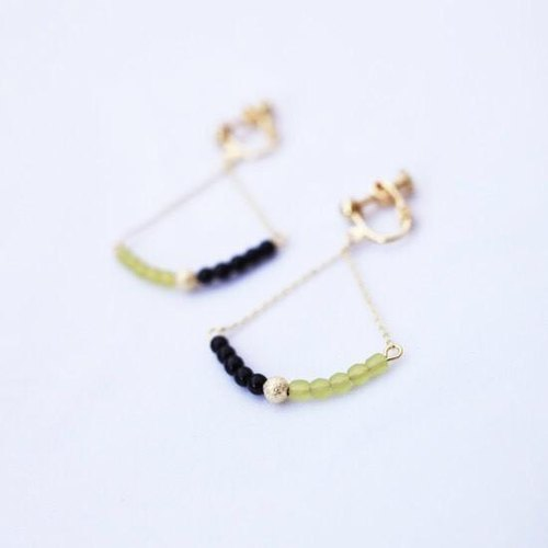 Earrings leo 'color' [Light Green]