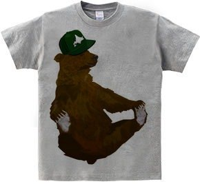 Hokkaido and the brown bear (T-shirt 5.6oz gray)