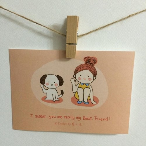 《艺之鱼》I swear, we are really GOOD FRIENDS 卡片 明信片 --C0156