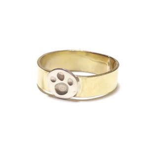 [Order production] ring / gold color and silver paws <unisex> ※ 7-20 No.
