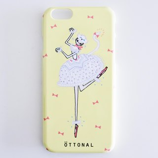 White cat smartphone case