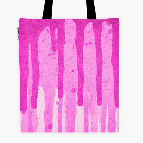 Filament - 帆布袋 - Pink Grunge Color Splatter Graffiti Backstreet Wall Background