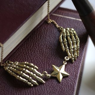 Hands Skeleton with A Star Necklace by Defy / Jewelry / Cool Charm Pendant