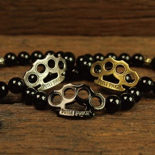 【METALIZE】Brass Knuckles 10MM Beaded Bracele 手指虎10mm串珠手链