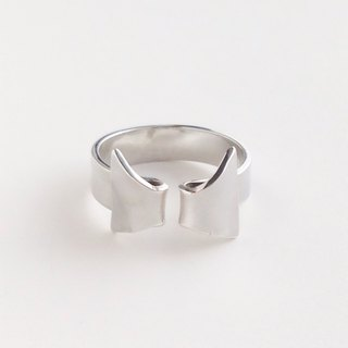 [Order production] ring / 950 silver ribbon / wing design ※ No. 7-13 (other size Negotiable)