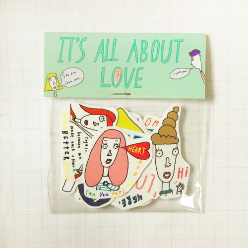 ✿Macaron TOE 马卡龙脚趾✿ It's All About Love /贴纸包(10入)