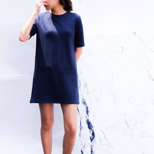 Tunic Dress - Navy