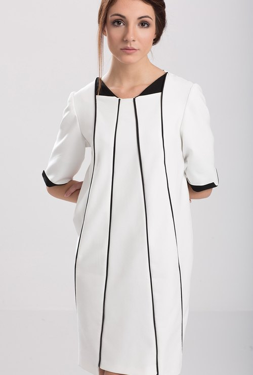 White Dress With Side Pockets