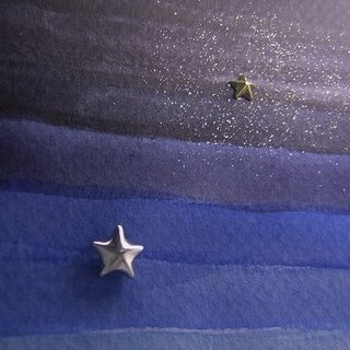 stars α ( star gold silver jewelry earrings 星 海星 金 銀 穿孔耳环 )