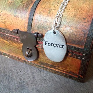 【Story Necklace 故事项链】FOREVER不规则切割泥板款式