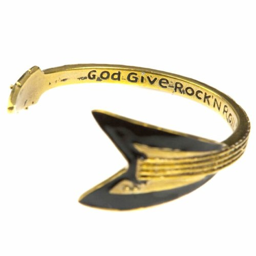 Flying V bangle in brass,Rocker jewelry ,Skull jewelry,Biker jewelry