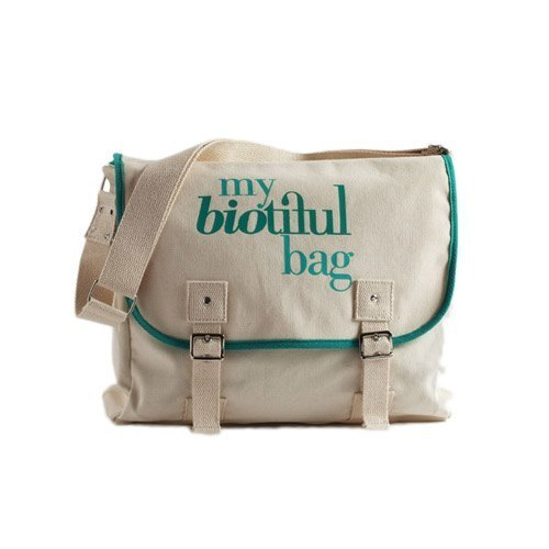 法国my biotiful bag有机棉Messenger Bag-Green