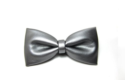 ▲霸气银领结-Hand-made Bow Tie