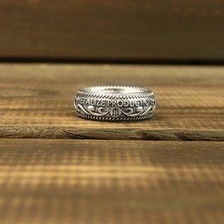 【METALIZE】925 Silver Carving Ring 925银雕花戒
