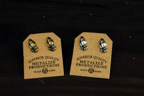 "【METALIZE】""Pray Hand"" Earrings祈祷手耳环"