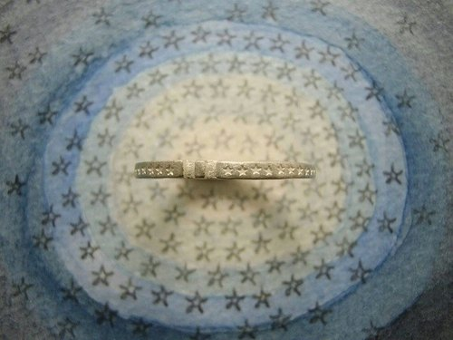 comet belt ( mille-feuille ) ( engraved stamped message sterling silver jewelry ring lucky 福星 星 彗星 扫帚星 宇宙 银汉 刻印 雕刻 銀 戒指 指环 )