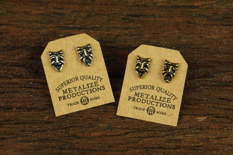 "【METALIZE】""Comedy and Tradedy Mask"" Earrings 哭笑脸耳环"