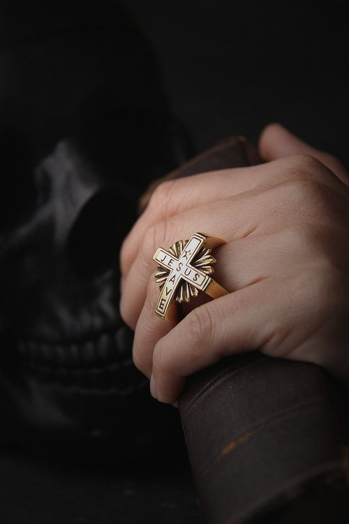 Jesus Save Cross Ring by Defy - Cool Statement Ring Unisex Jewelry