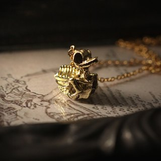 Duck Skeleton Charm Necklace by Defy - Original Handmade Jewelry