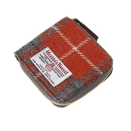 HARRIS TWEED WALLET - ORANGE