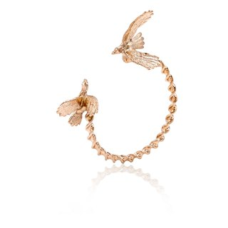 Cockatoo Bangle - pink gold