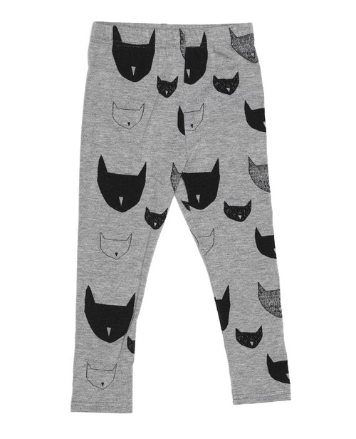 英国 beau LOves 灰色岩石猫公爵Leggings (beau LOves Cats Leggings Grey Marl )