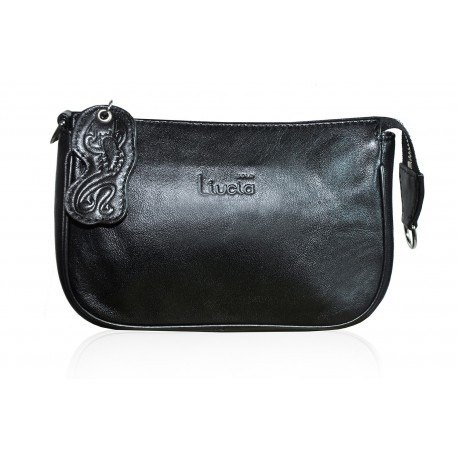 LUCY MATTE BLACK LEATHER BAG