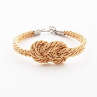 Light gold infinity rope bracelet