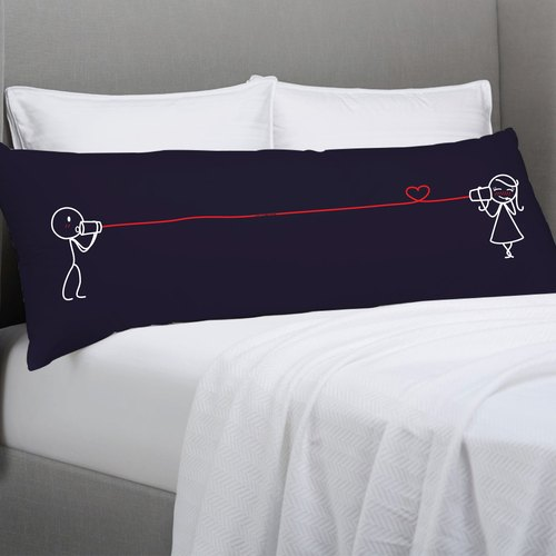 CANPHONE Dark Blue Body Pillow Case by Human Touch