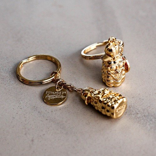 Filter017 - 钥匙圈 - Filter017 X Trex 3D POPCORN Golden Age Key Chain 玉米人黄金年代钥匙圈