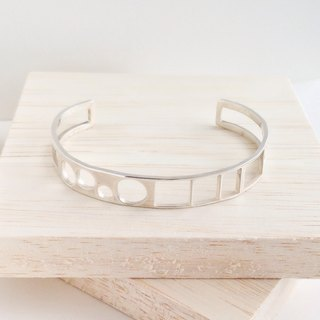 "[Order production] bangle / Silver 950MIX design ""nice greedy"""