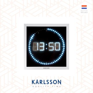 Karlsson Wall clock LED The Time Roll square 荷兰Karlsson方形LED Time Roll挂钟