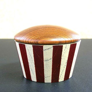 (gift) Small lids 24 corners · dark red stripes