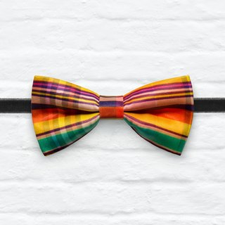 Style 0061  彩格 印花 系列 领结 colorful plaid pattern bowtie