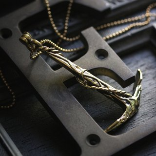 Long Anchor Charm Necklace by Defy - Statement Pendant Jewelry - Accessories